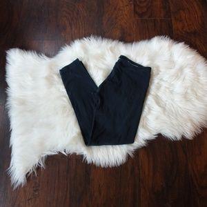 Hard tail black cotton full length leggings size M